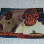 Star Wars Evolution topps 2001 Admiral Ackbar Foil card